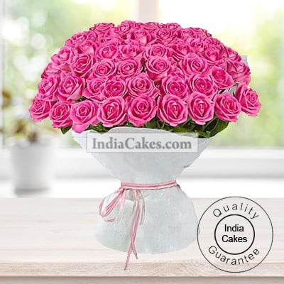 150 Pink Roses Bunch