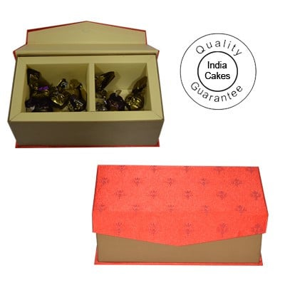 20 Pcs Red Color Velvet Finish Chocolate Box