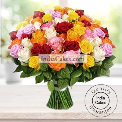 50 Mixed Roses Bunch