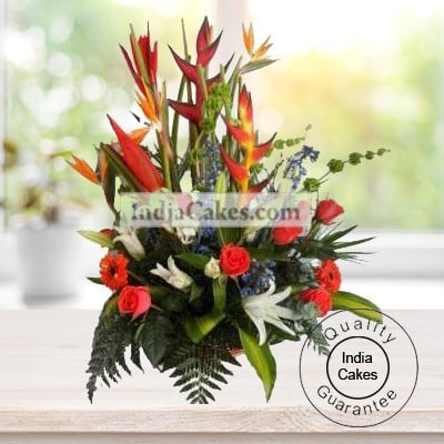 30 MIX EXOTIC FLOWERS BUNCH