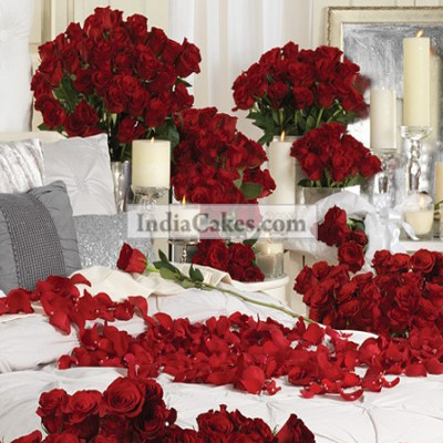Room Full Of 500 Red Roses