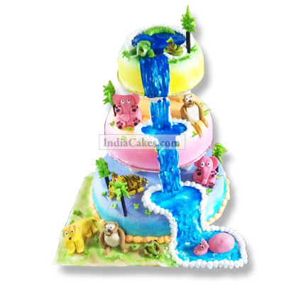 3 Kg 3 Tier Jungle Theme Cake