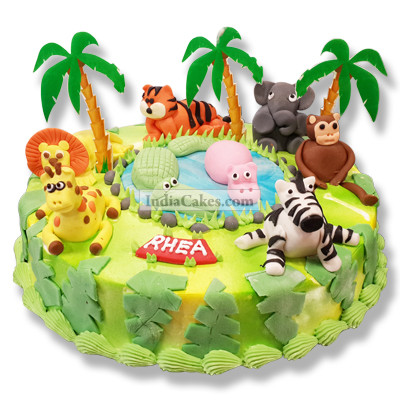 5 Kg Jungle Theme Cake