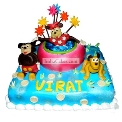 3 Kg Mickey And Friends Cake