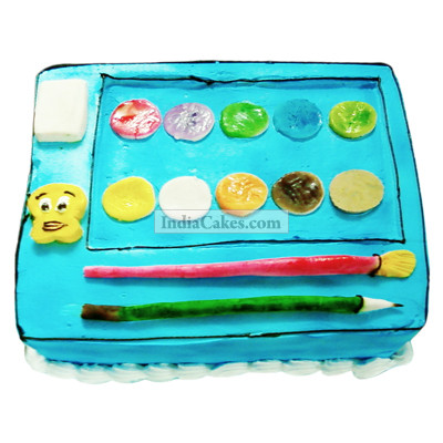 Fondant Paint Box Cake Two Kilogram