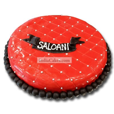 Fondant Red Pearl Designer Cake One Kilogram