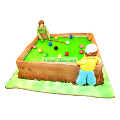Fondant Snooker Table Cake Two Kilogram