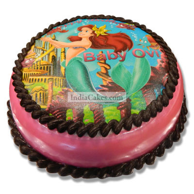 2 Kg The Little Mermaid Photo Cake Pune