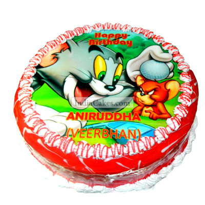 2 Kg Tom And Jerry Photo Cake
