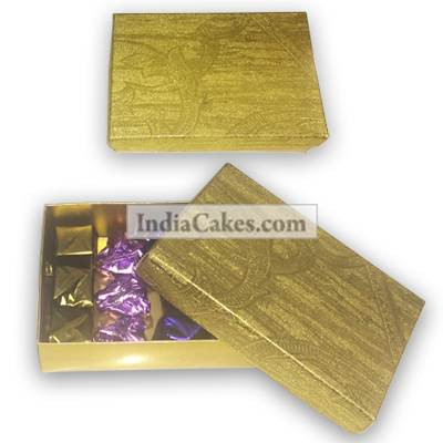 Golden Finish Design Chocolate Or Sweet Box
