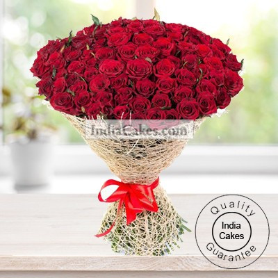 Hand Tied Bunch of 50 Red Roses