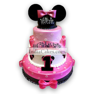 8 Kg Minnie Mouse 3 Tier Cake