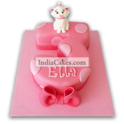3rd Birthday Kitty Cake Three Kilogram