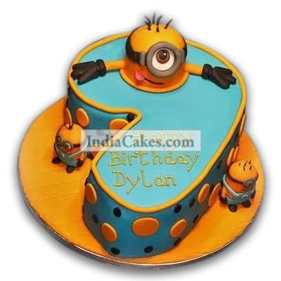 9th Birthday Minion Cake Three Kilogram