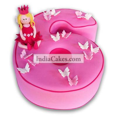 6th Birthday Princess Fairy Cake Three Kilogram