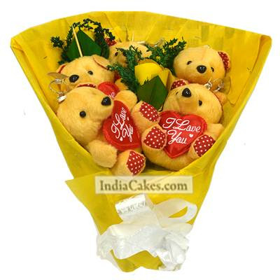 Teddy Bouquet 15