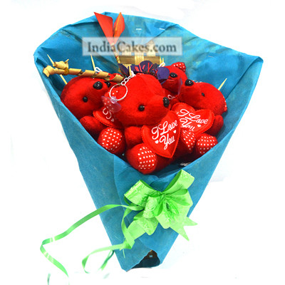 Teddy Bouquet 16