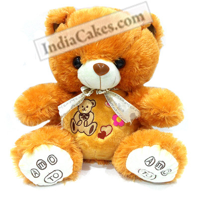 30 cm Brown Color Teddy Bear With Ribbon