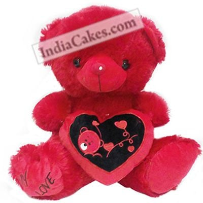 Red Color Teddy Bear With Heart 40 cm