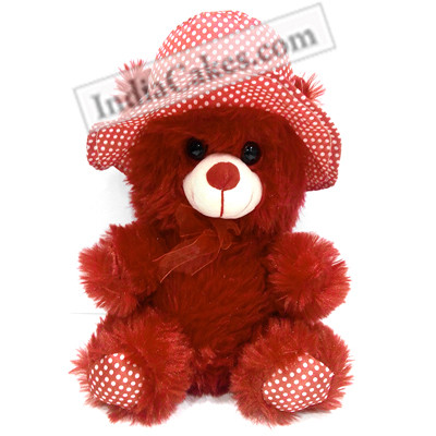 30 cm Red Color Teddy Bear With Ribbon