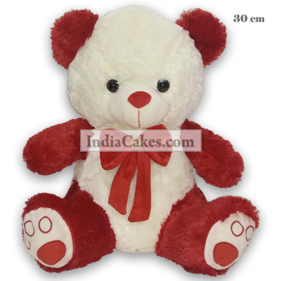 30 cm Red And White Small Teddy Bear