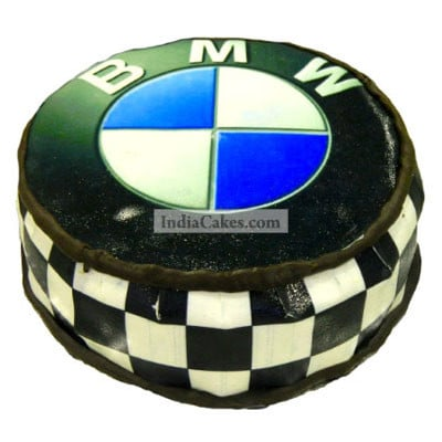 Fondant BMW Logo Cake Two Kilogram