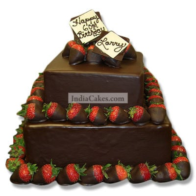 3 Kg Two Tire Chocolate Truffle Cake