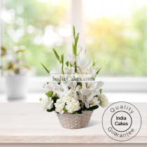 20 White Flowers Arrengement