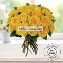 25 Yellow Roses Bunch