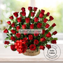 30 Red Roses Basket Arrengement