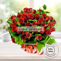35 Red Roses Bunch