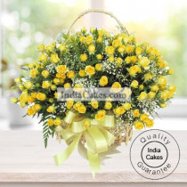 Arrangement of 50 Yellow Roses