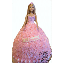 Barbie Doll Cake_2 | 50% OFF | Order Online Delivery @ 349/- Sameday | IndiaCakes