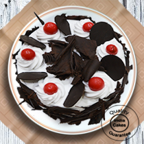 Half Kg Rich Black Forest Cake with Cherry