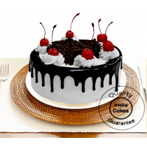Half Kg Black Forest Gel Cake with Cherry
