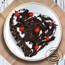 Half Kg Heart Shape Black Forest Cake