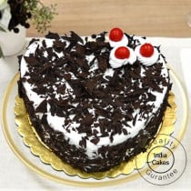 Eggless Black Forest Cake 1 Kg Heart Shape