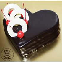 Eggless Chocolate Heart Shape Cake