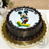 1 Kg Eggless Chocolate Truffle Photo Cake