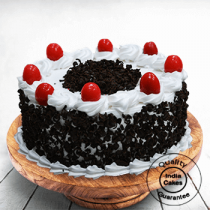 Half Kg Cream and Cherry Black Forest Cake