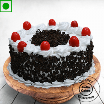 Eggless Half Kg Cream and Cherry Black Forest Cake