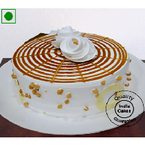 Eggless Desirable Butterscotch Cake Half Kg