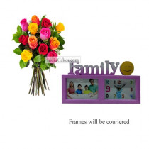 12 Mix Roses Bunch And Family Photo Frame 4
