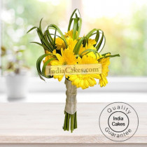 10 YELLOW GERBERAS BUNCH