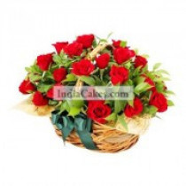 25 Roses In a Basket