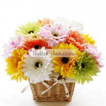 Basket of 20 Mix Color Gerberas