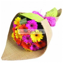 10 Mixed Coloured Gerberas