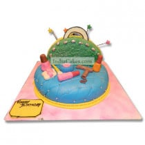 3 Kg Girl Accessories Cake