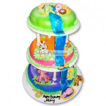 5 Kg 3 Tier Jungle Theme Cake