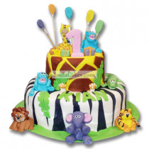 3 Kg Jungle Theme Fondant Cake